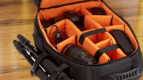 DSLR Yellow inside Camera Bags