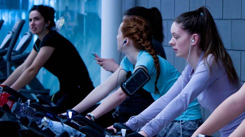 Girls exercise